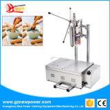 3 orifícios Churros Machine Fritadeira Churro Maker com sistema de corte da máquina