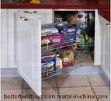 Gabinete de cozinha barato da laca do preço do lustro elevado