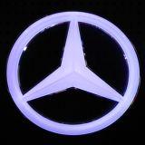 Teken van het witte Acryl LEIDENE van het Kristal het Lichte Embleem van de Auto