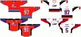 Desgaste do desporto de personalização Perspectivas Superior Jogo de Hóquei no Gelo Casa 2005/2006 camisolas