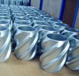 Vane espiral tampa rígida de alumínio fundido centralizadora