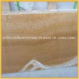 Miel Onyx / resina de color amarillo / mármol ónix amarillo Suelo del azulejo