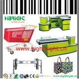 Barreira de proteção de canto para geladeira de supermercado