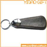 금속 니켈을%s 가진 진짜 가죽 열쇠 고리는 도금했다 (YB-LK-04)