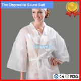 Один раз использовать одноразовые тканый халат для SPA