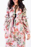 Швейной фабрики тропических Maxi печать платья для женщин
