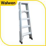 Высокое качество двойного складывания лестницы Aluminuml со стороны