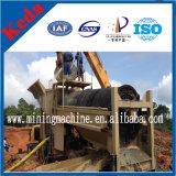 Equipamento de mineração de minério de ouro aluvial Equipamento portátil de lavagem de tela Trommel