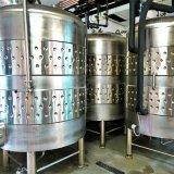 販売のための赤ワインの発酵槽