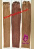 100% virgem Remy de cabelo humano máquina feita trama de Cabelo com cordões de extensão de cabelo, alta qualidade e preço no atacado