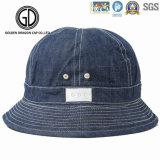 Cappello superiore della benna del pescatore del denim di Caldo-Vendita con il marchio su ordinazione