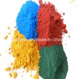 El rojo, amarillo, naranja, verde, azul el óxido de hierro para la pintura y tinta
