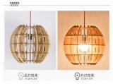 나무로 되는 Handmade LED 펜던트 빛