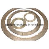 Placa de bronce de la fricción