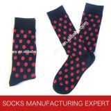 Socke der Männer mit glücklicher Socken-Art (UBM1038)