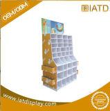 Sauter vers le haut la crémaillère de livres de papier de Cshoe d'étalage de mémoire d'étage de carton