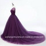 Einfaches Traumkleid-schnüren sich romantisches Weinlese-Hochzeits-Kleid oben