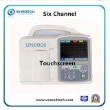 Pantalla TFT a color 6 canales de uso veterinario de la máquina de ECG portátil