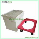 Bewegliche Firma-Gebrauch-Speicher-Befestigungs-Kappen-Plastikjungfrau-Rahmen mit Transportwagen