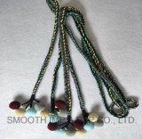 Мода Pompom ремень из Брэд шнур и красочными Tassel