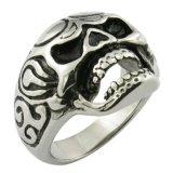 ステンレス鋼の宝石類の頭骨のリングの習慣のリング