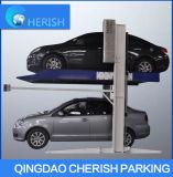 Un parking à deux postes de levage avec ce