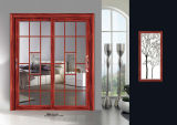Porte coulissante de porte en verre en aluminium de porte