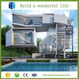 Diseño de lujo prefabricado de la casa del chalet del hogar modular del bajo costo