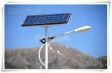 Lampada solare dell'indicatore luminoso di via LED con la batteria di litio per il giardino