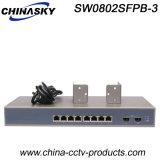8 разъем RJ45 + 2 SFP гигабитных оптоволоконных коммутатор Ethernet (SW0802SFP-3)