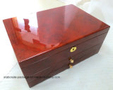 Rectángulo de regalo de madera superior de la colección de la alta chapa