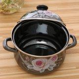 5PCS黒いミラーの艶出しのステッカーのトルコのエナメルの鍋