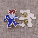 Pin di collare morbido personalizzato dello smalto di scintillio animale dell'orso