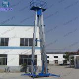 Tabella di lavoro di sollevamento aerea dell'elevatore di alluminio elettrico dei tre alberi di 12m