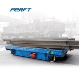 Manutention de matériel lourd chariot de transfert électrique sur rails plat