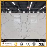 Heiß-Verkauf Qualität künstliche Calacatta weiße Quarz-Stein-Platte