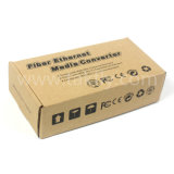 El modo Single solo Gigabit Ethernet de fibra óptica conversor de medios Sc20km.