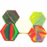 De grado alimentario personalizado 110ml silicona dividida hexágono Contenedor para el comercio al por mayor