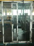 L'aluminium Framen porte coulissante en verre sur les Poudres Coateding