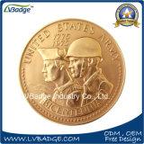 Pièce de monnaie de souvenir en métal d'armée d'Etats-Unis