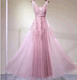 2017 Lace Off-Shoulder Bridesmaid Evening Prom Dresses La002