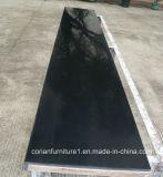Corianの黒いアクリルの固体表面のテーブルトップの黒い卓上