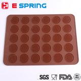 Muffins en silicone à 30 cavités / Gâteaux ronds à l'amande Outils Pâtisserie Macaron Plaque de cuisson Mélange à biscuits