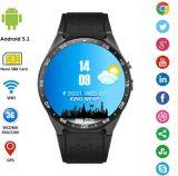"""Android 1.39 телефона Smartwatch Kw88 WCDMA цвет франтовского """" черный"""