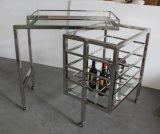 La barra de acero inoxidable muebles de lujo en camilla, vino la cesta