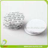 プラスチック帽子が付いている50ml PEの薬のプラスチックびん