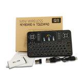 Клавиатура радиотелеграфа Q9 цветастой миниой беспроволочной освещенная контржурным светом клавиатурой 2.4G