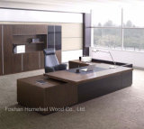 현대 호화스러운 사무실 테이블 우아한 두목 책상 또는 실무자 책상 (HF-LWP8010)