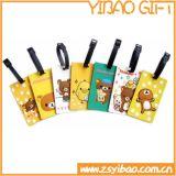 Изготовленный на заказ цветастая бирка багажа PVC перемещения с биркой ярлыка (XY-HR-87)