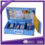 Empacotamento personalizado fantasia da caixa de presente da mala de viagem do papel do cartão do projeto